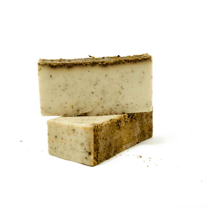 palo santo soap with molido, ground palo santo, by third eye wood