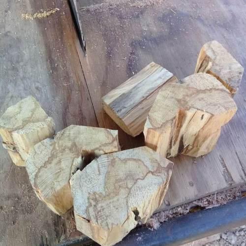 six chunks of palo santo wood