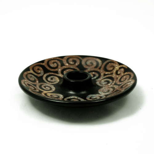 peruvian clay incense holder