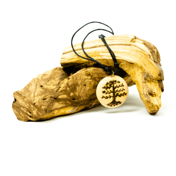 stringed palo santo tree necklace