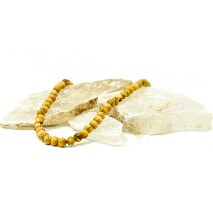palo santo pearl necklace by third eye wood