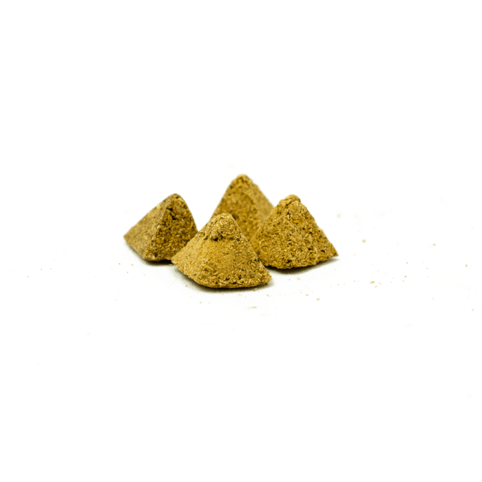 small palo santo incense pyramids made from molido