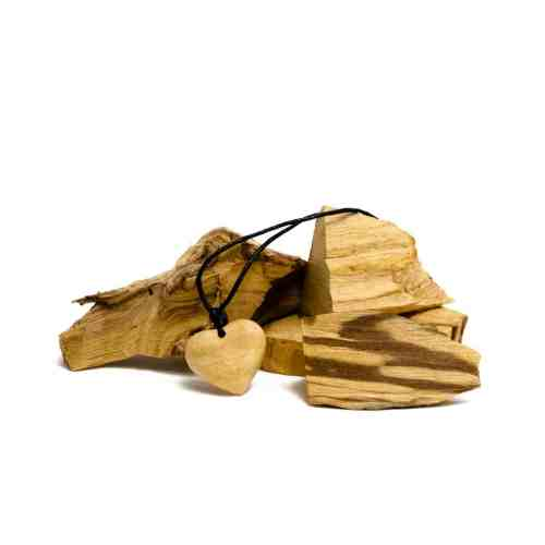 stringed palo santo heart necklace by third eye wood