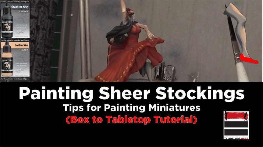 Painting See-Through Stockings (Tutorial)