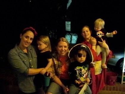 Ashley, Hayley and Lauren with munchkin accompaniment