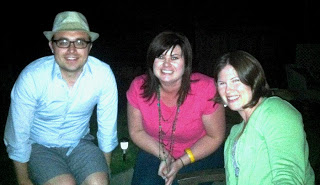 (Jimmy Butts, Kelly Cooper, and Lauren Butts at the April S3S Party hosted by the Blakesleys)