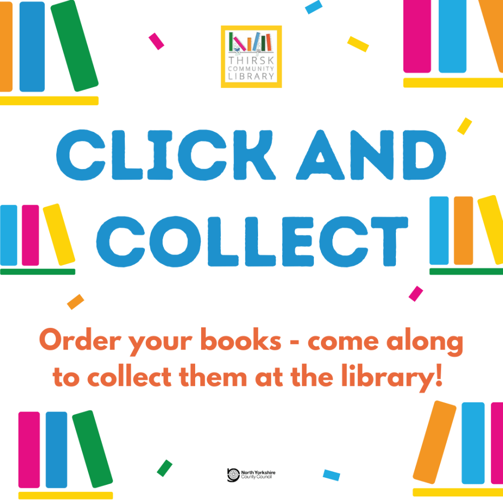 Click and collect library books and printing in Thirsk