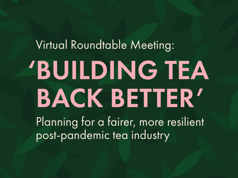 Building Tea Back Better – A THIRST event