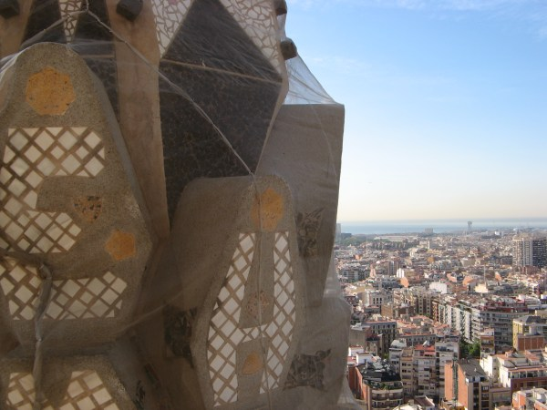 close up of spires on Sagrada Familia