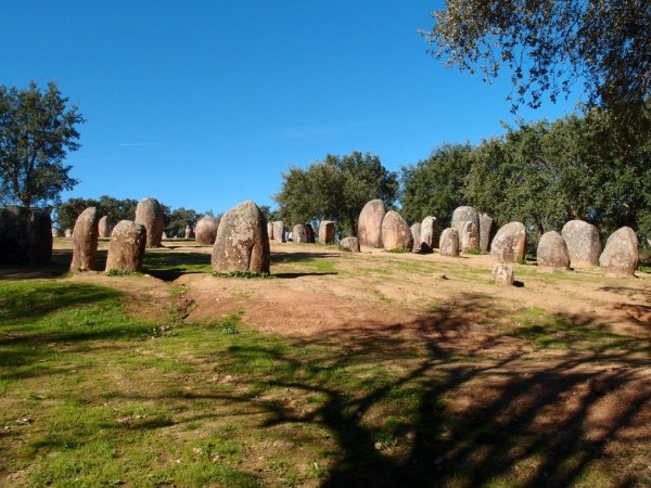 megalith stones at Almendres