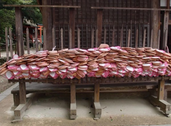 wooden wishing plaques, nara park