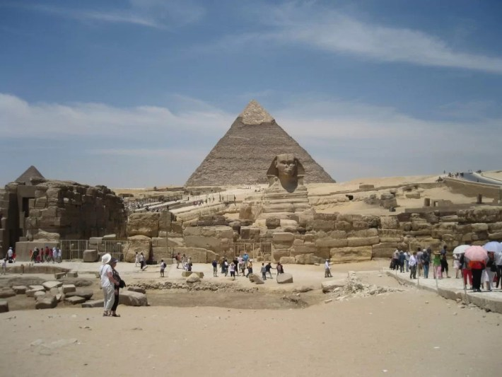 Khafre pyramid and Sphinx