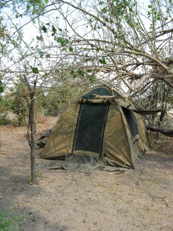 tent in Botswana camp