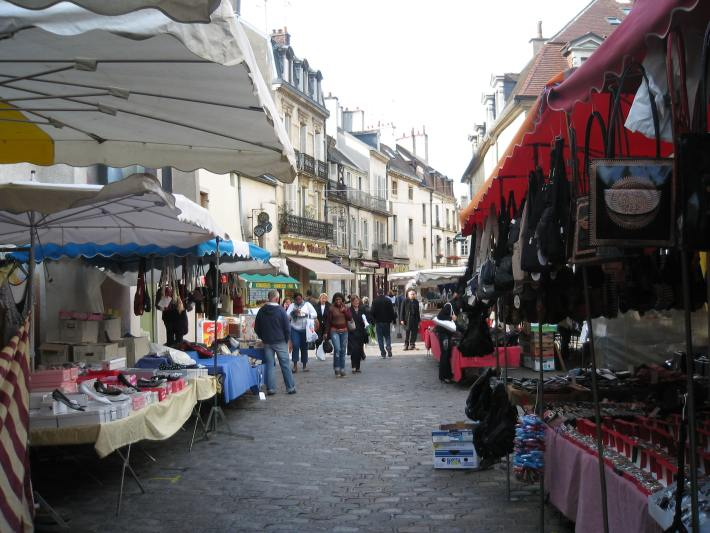 outdoor market, Dijon France