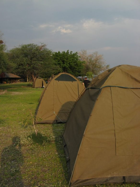 tents in Botswana