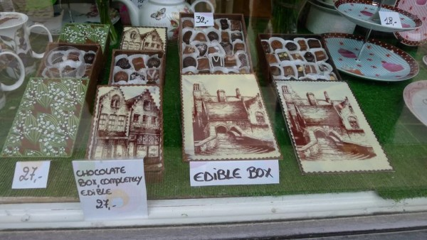 edible chocolate boxes, Bruges, Belgium