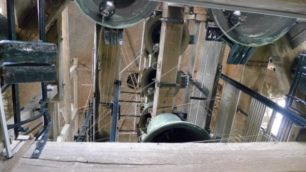 Carillon bell, the Belfry, Bruges Belgium