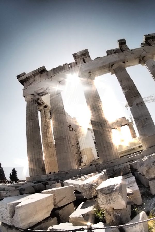 sunlight and shadows on Acropolis, Greece