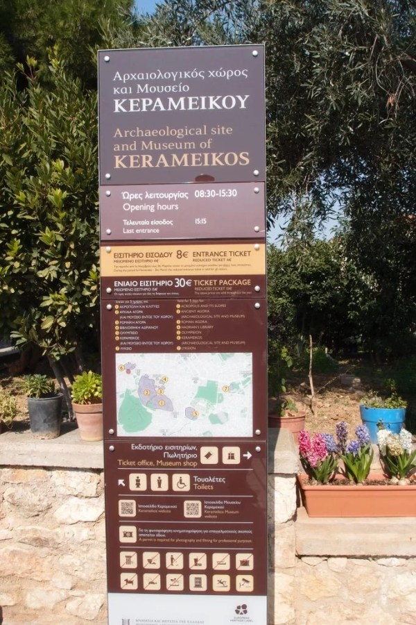 Kerameikos entry sign