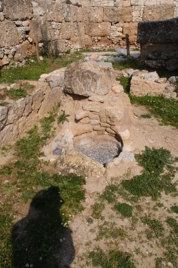 Hole in ground, Kerameikos, Athens