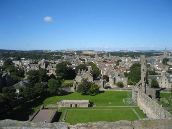 view from St. Rules tower, St Andrews Scotland