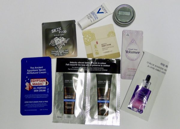 sample sized products for travel