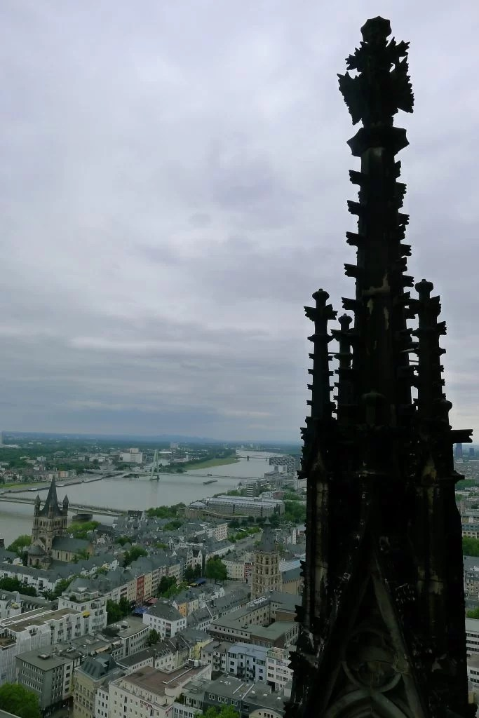 Rhine view from Cologne Cathedral viewing platform