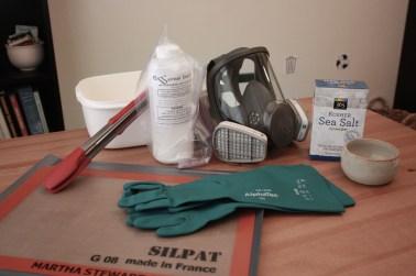 Safety equipment...plus sea salt.