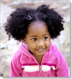 natural hairstyle African American little girls