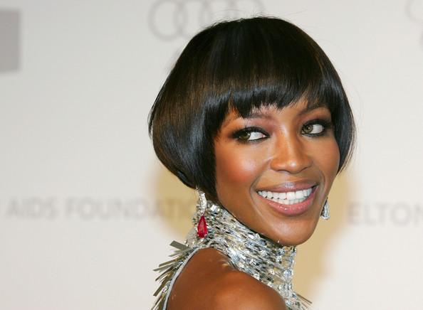 Naomi Campbell Short Bob Hairstyle