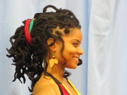Curly Dreads Updo Black Hairstyles