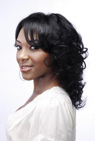 curly black weave hairstyles with swept bangs · ThirstyRoots | Oct 25, 2010