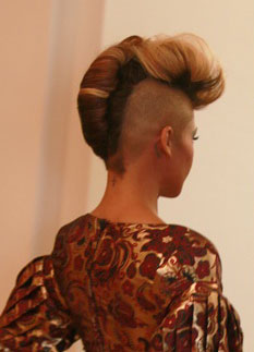 Cassie French Roll Updo From The Back