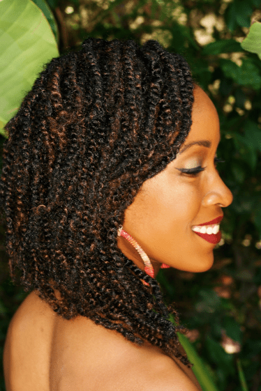 Twists And Cornrows Natural Hairstyle Side View Felicia