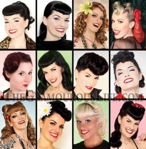 rockabilly hairstyles with bangs