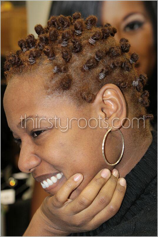 Short Brown Bantu Knots Black Hairstyles