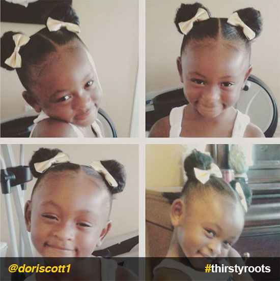 bun-ponytails-with-hair-bows-natural-hairstyle-for-little-girls