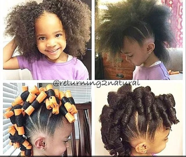 Pony Hawk With Perm Rods Curls Natural Hairstyle