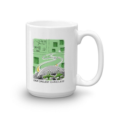 aliens crop circles coffee mug 15oz