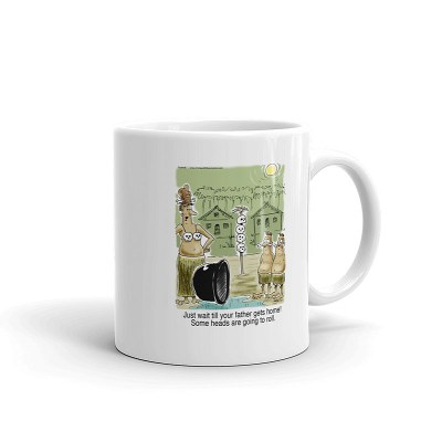 heads are going to roll coffee mug 11oz