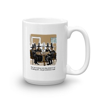outlaws at saloon 15 oz coffee mug