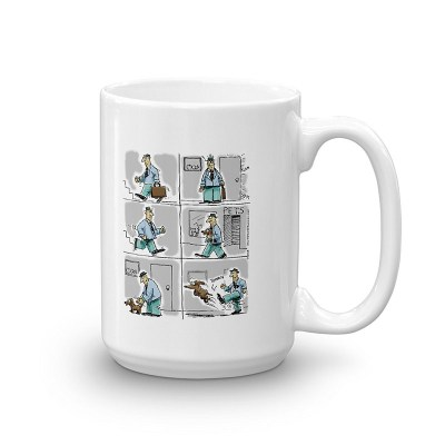 kick the dog coffee mug 15oz