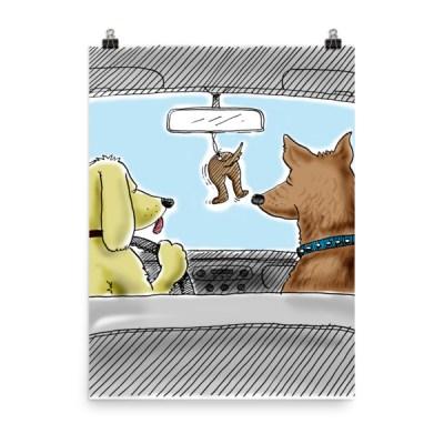 dog air freshener poster print