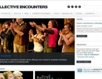 Screen Grab of Collective Encounters Home Page