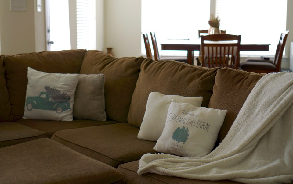 How to Decorate for the Holidays with DIY Throw Pillows