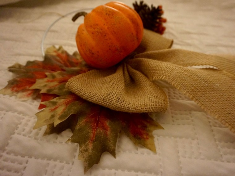 Simple Fall Wreath – with Repurposed Materials