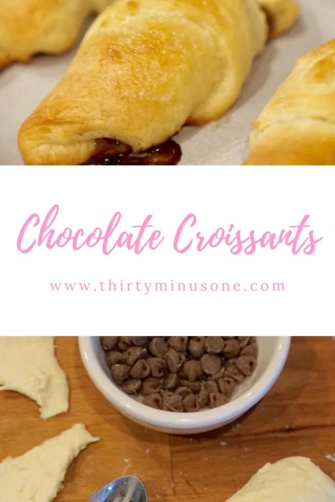 Easy Breakfast Chocolate Croissants