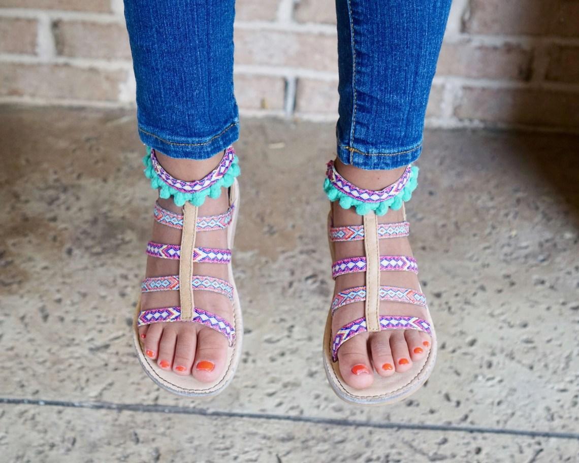 rampage girls sandals