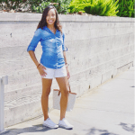 chambray and shorts
