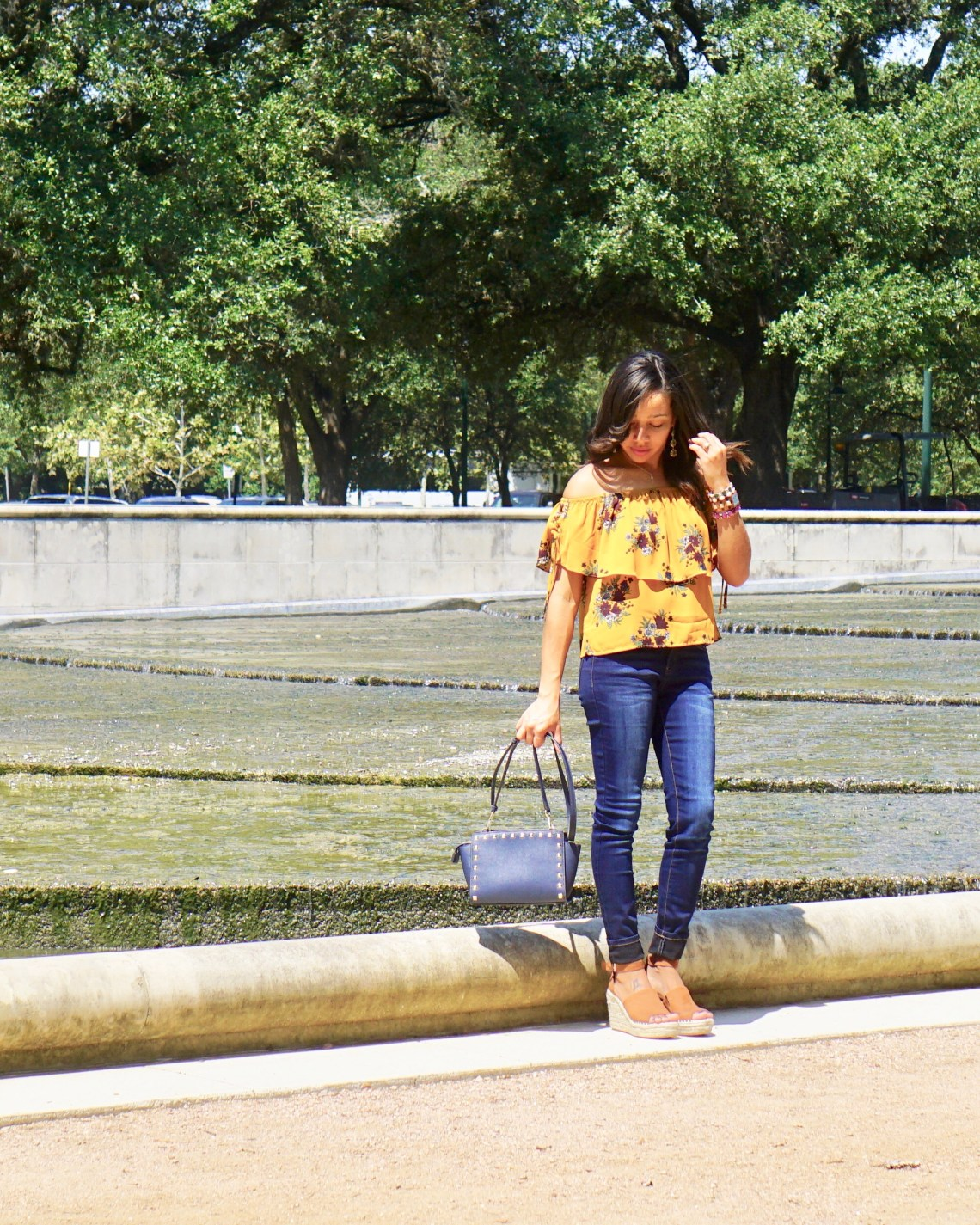 Fall Fashion: Florals & Cold Shoulder Top